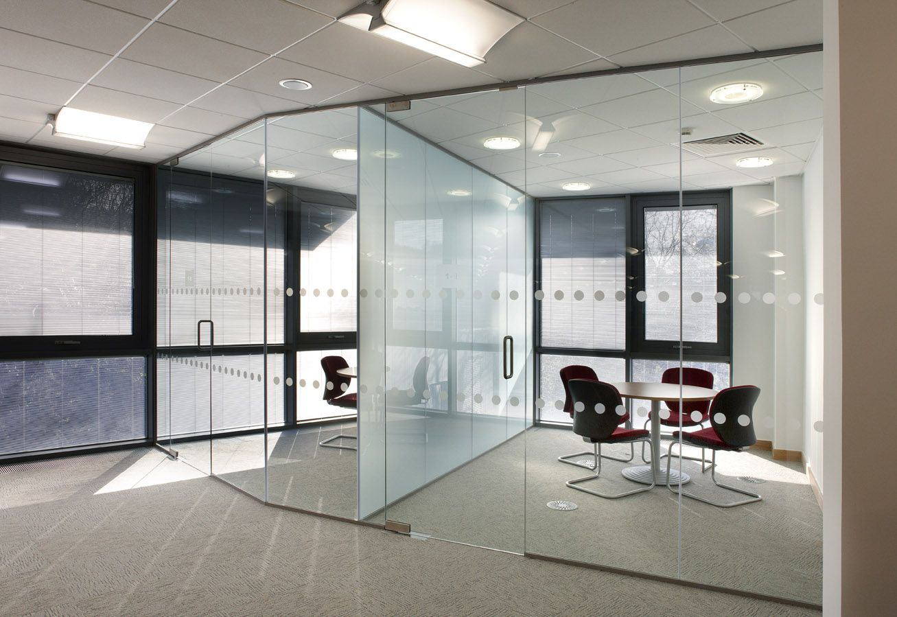 office space with glass walls photo - 5