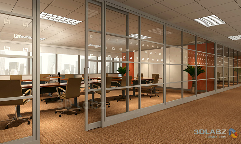 office space with glass walls photo - 8