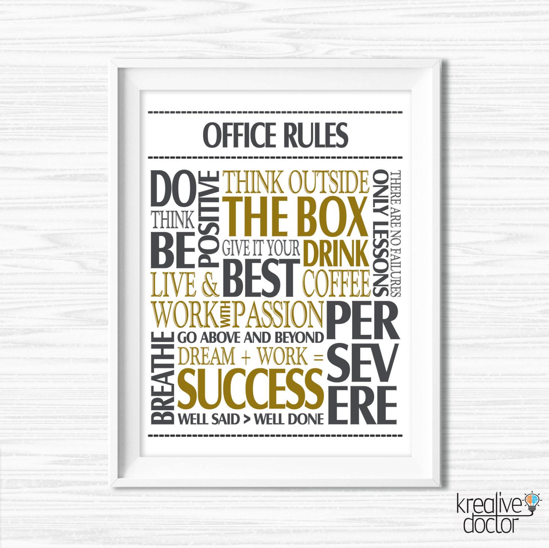 Office wall decor motivational photo 1