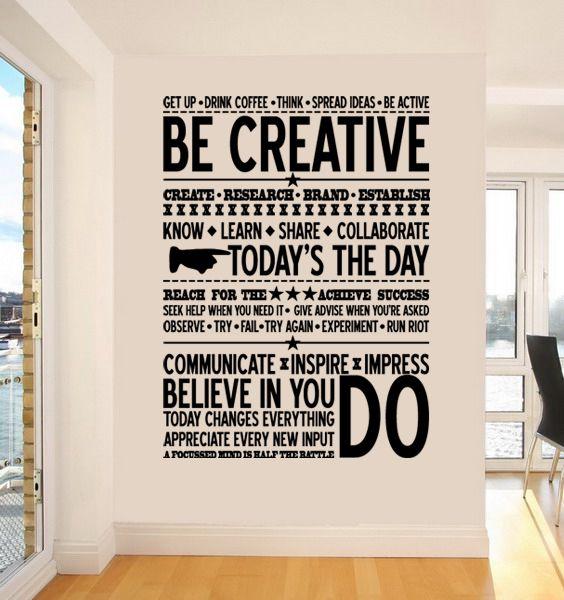 office wall decor motivational photo - 4