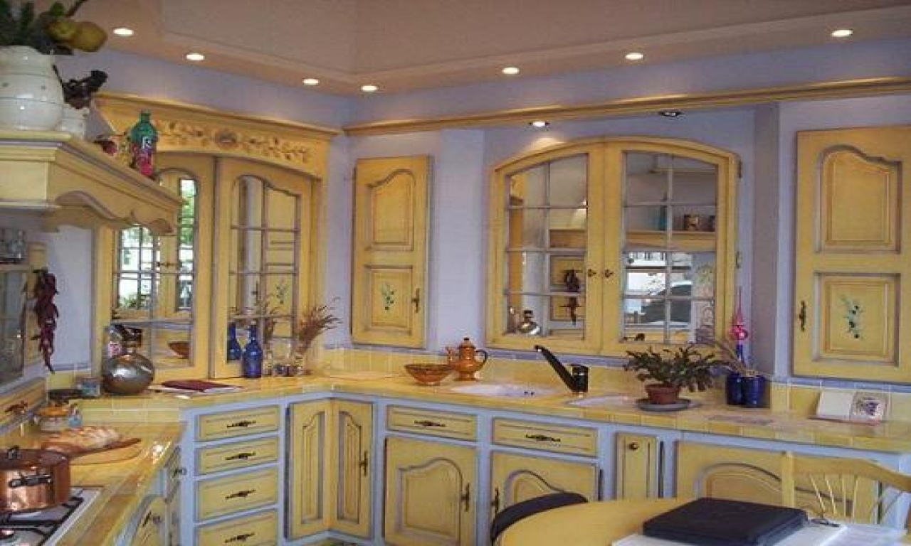 old french country kitchen photo - 2