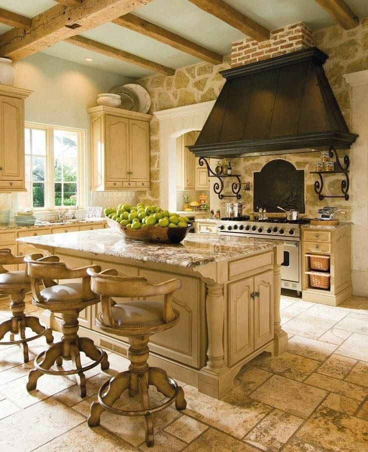 old french country kitchen photo - 6