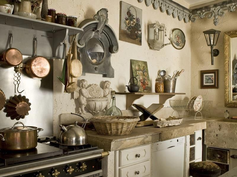 old french country kitchen photo - 7