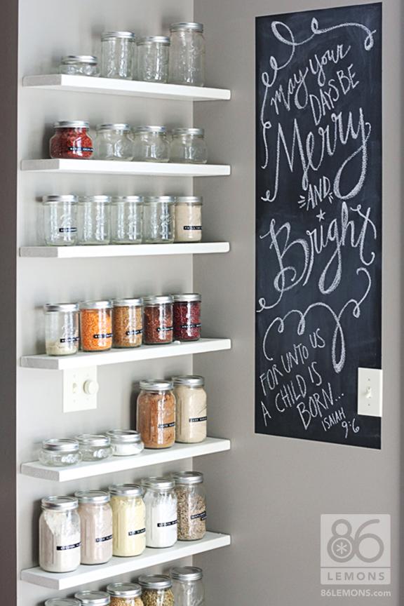 open kitchen pantry shelving photo - 1