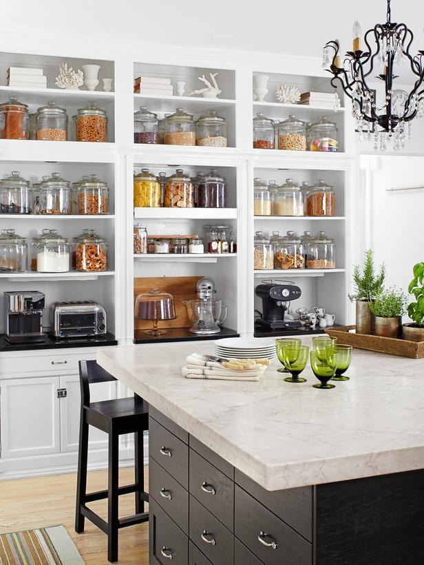 open kitchen pantry shelving photo - 2