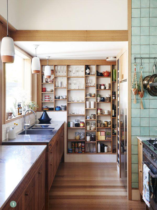 open kitchen pantry shelving photo - 3