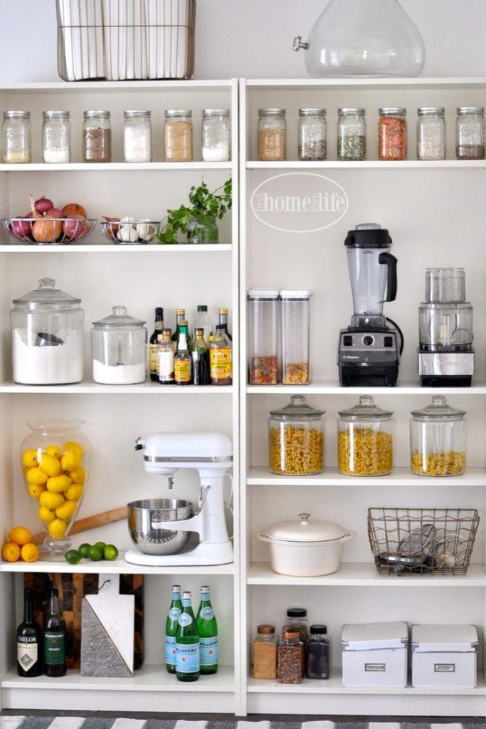 open kitchen pantry shelving photo - 4