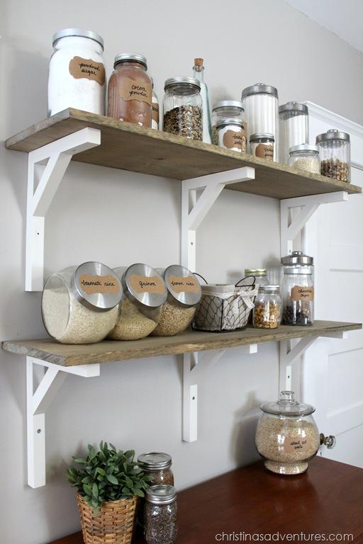 open kitchen pantry shelving photo - 5