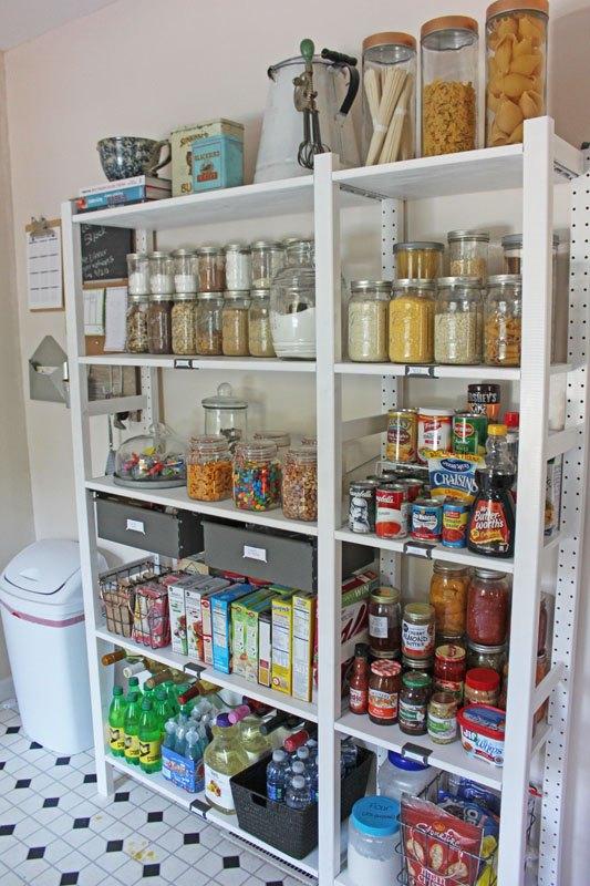 open kitchen pantry shelving photo - 6