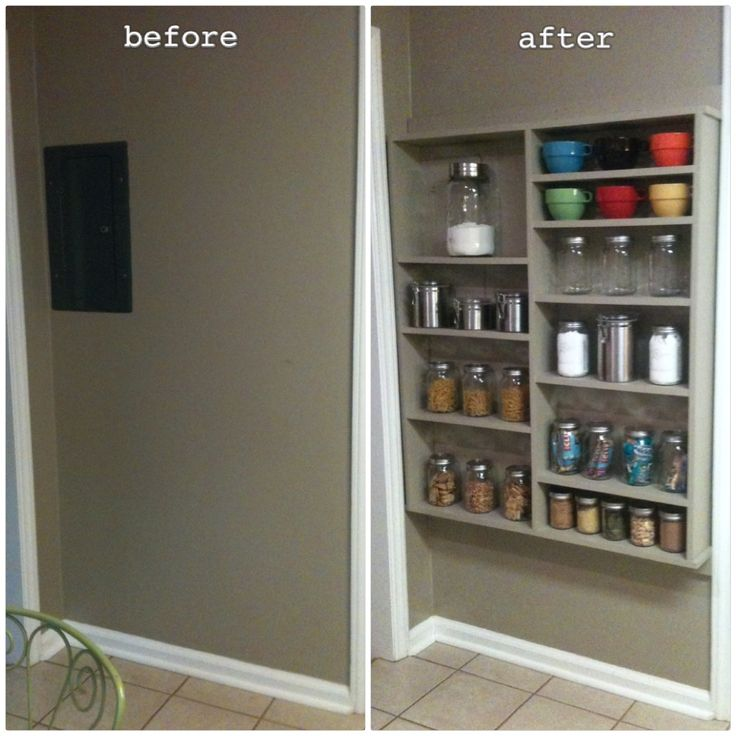 open kitchen pantry shelving photo - 8