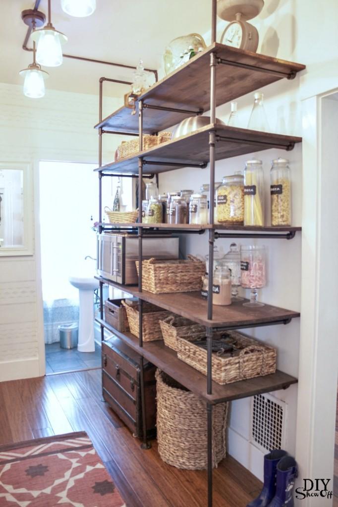 open kitchen pantry shelving photo - 9
