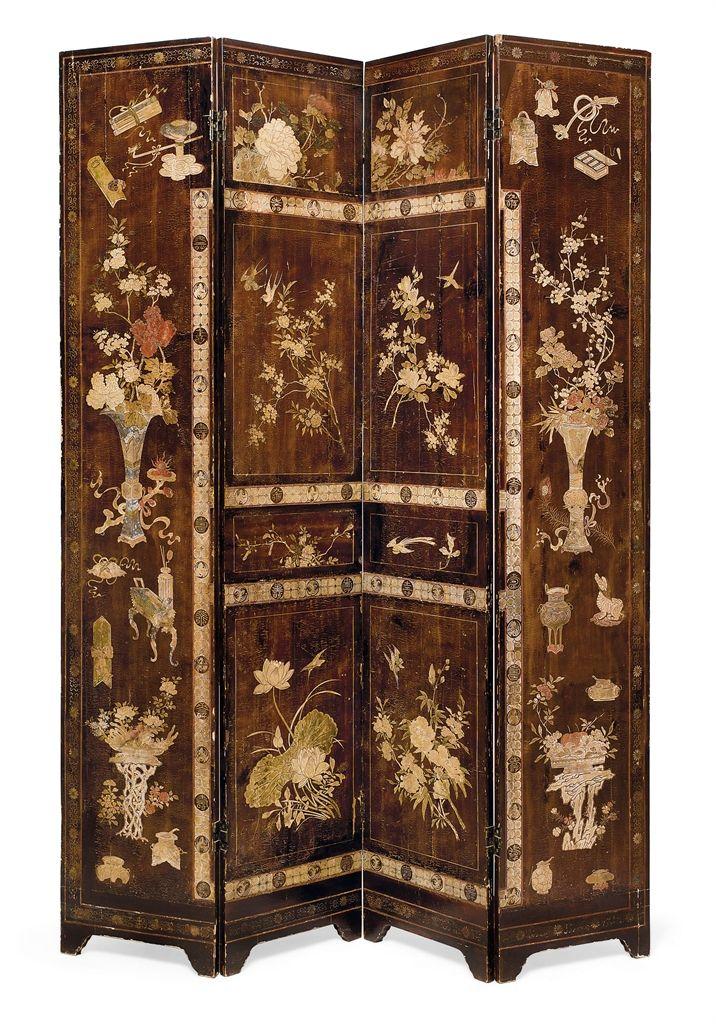 oriental room dividers antique photo - 2