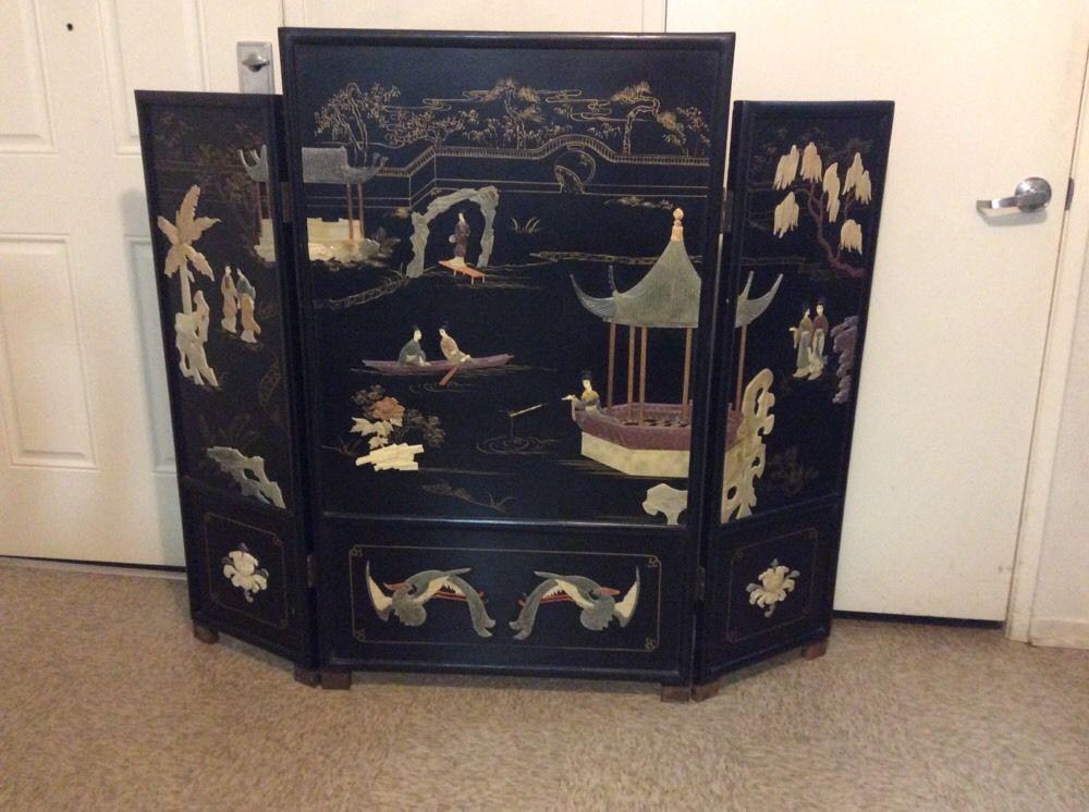 oriental room dividers antique photo - 6