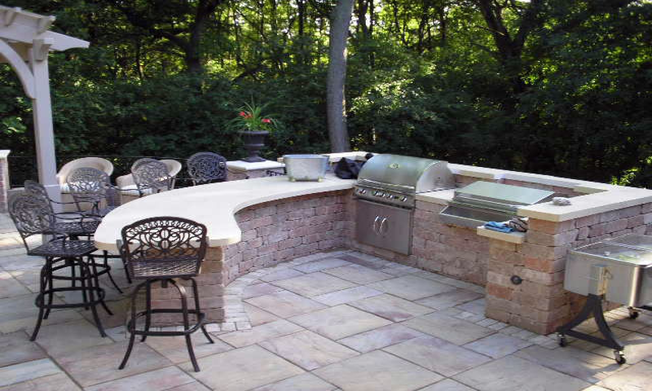 outdoor bar and grill designs photo - 1