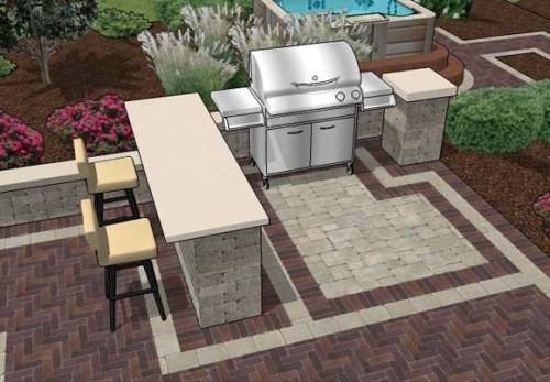 outdoor bar and grill designs photo - 2