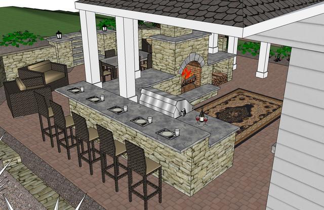 outdoor bar counter designs photo - 2