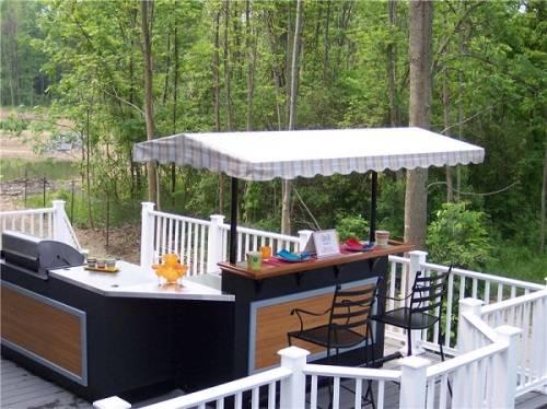 outdoor bar counter designs photo - 8