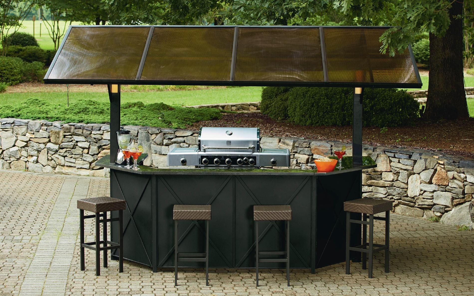 outdoor bar grill designs photo - 5