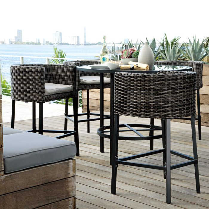 outdoor bar height furniture sets hawk haven