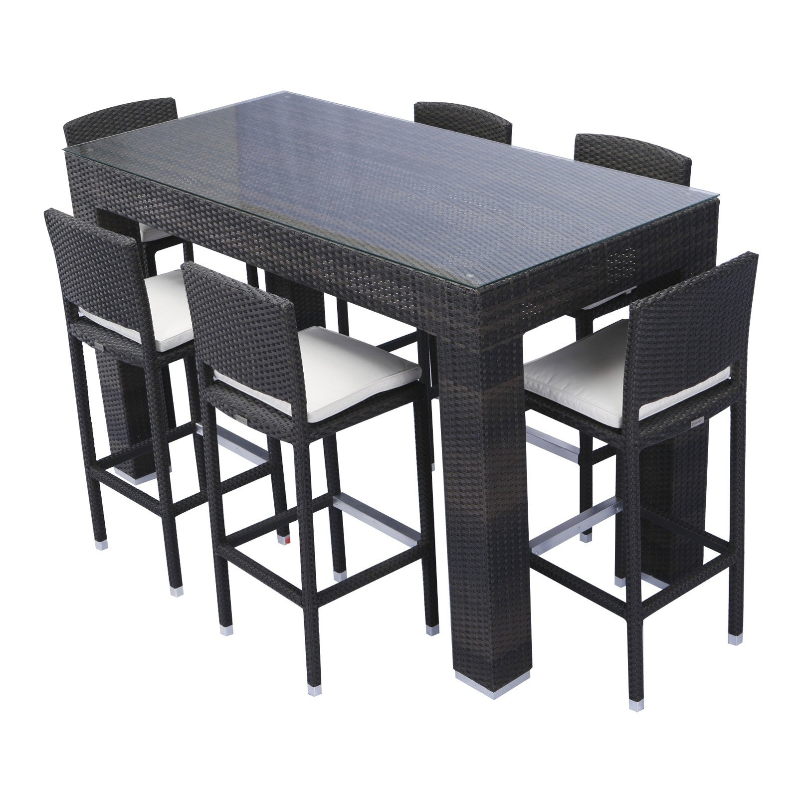 outdoor bar height furniture sets photo - 4