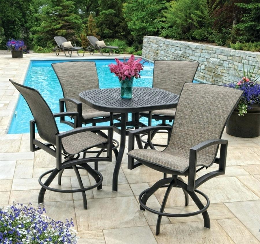outdoor bar height furniture sets photo - 7