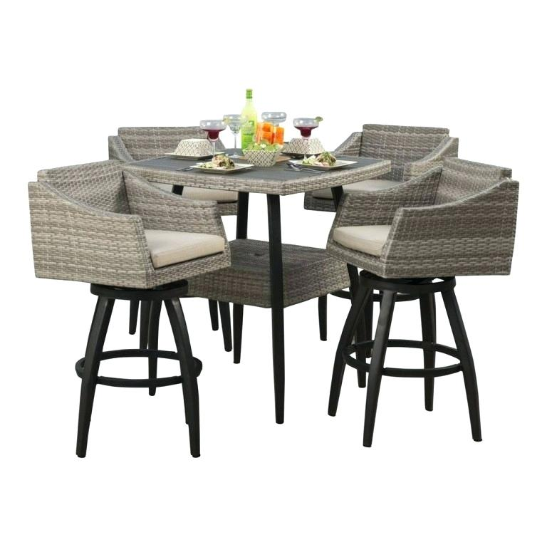 outdoor bar height furniture sets photo - 9