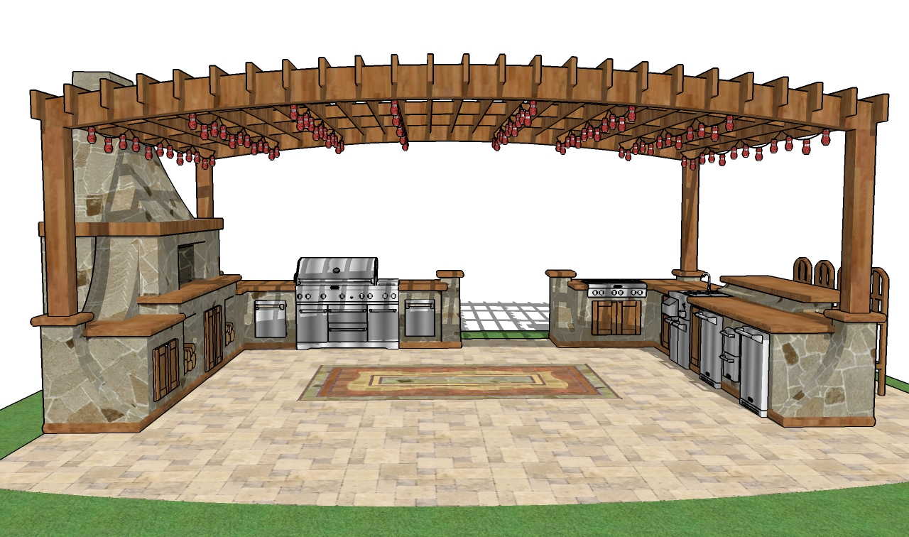 outdoor bar roof design photo - 1