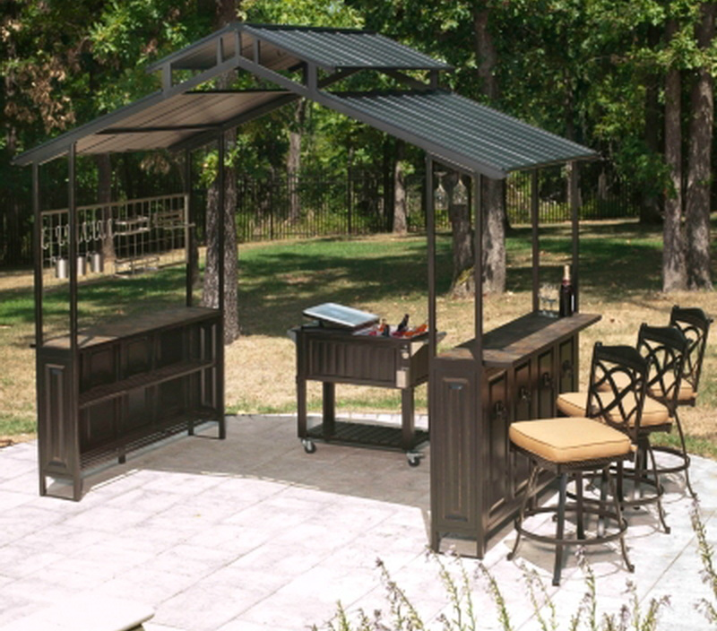 outdoor bar roof design photo - 10