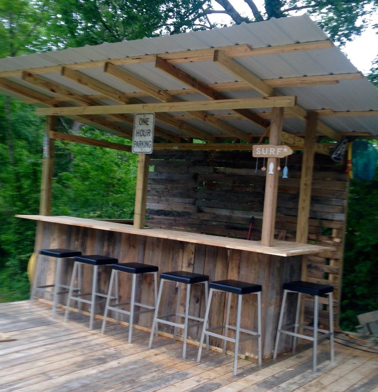 outdoor bar roof design photo - 8