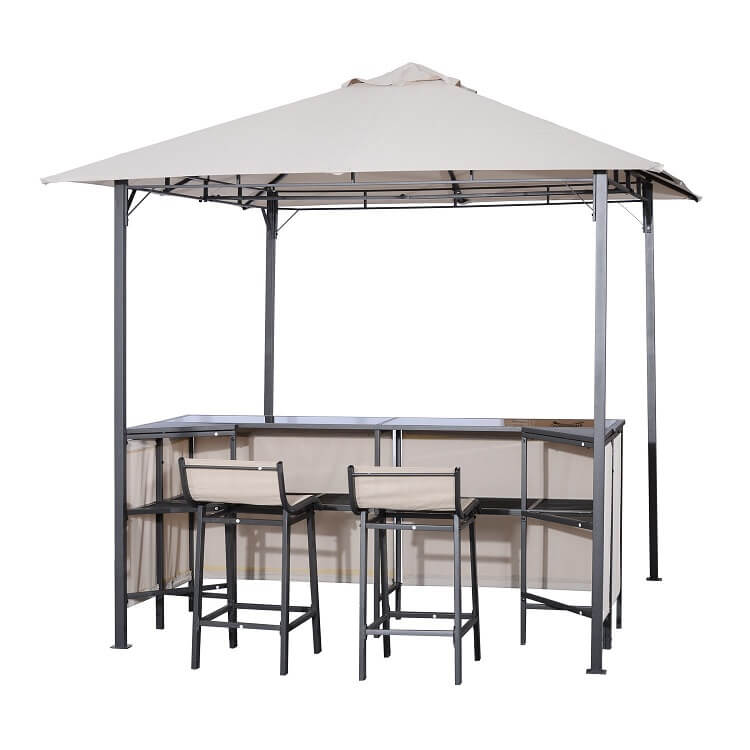 outdoor bar sets with canopy photo - 10