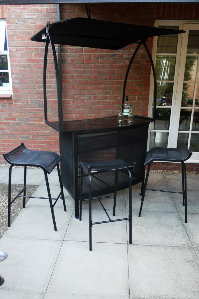 outdoor bar sets with canopy photo - 2