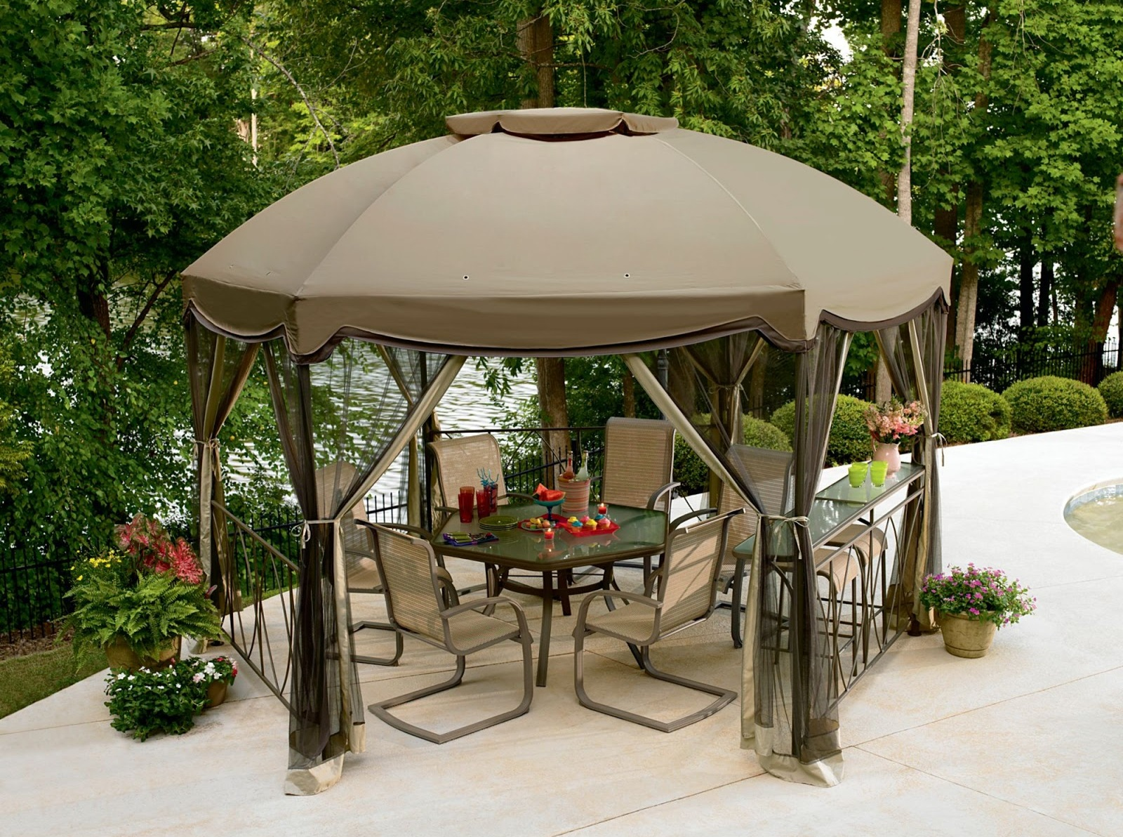 outdoor bar sets with canopy photo - 3