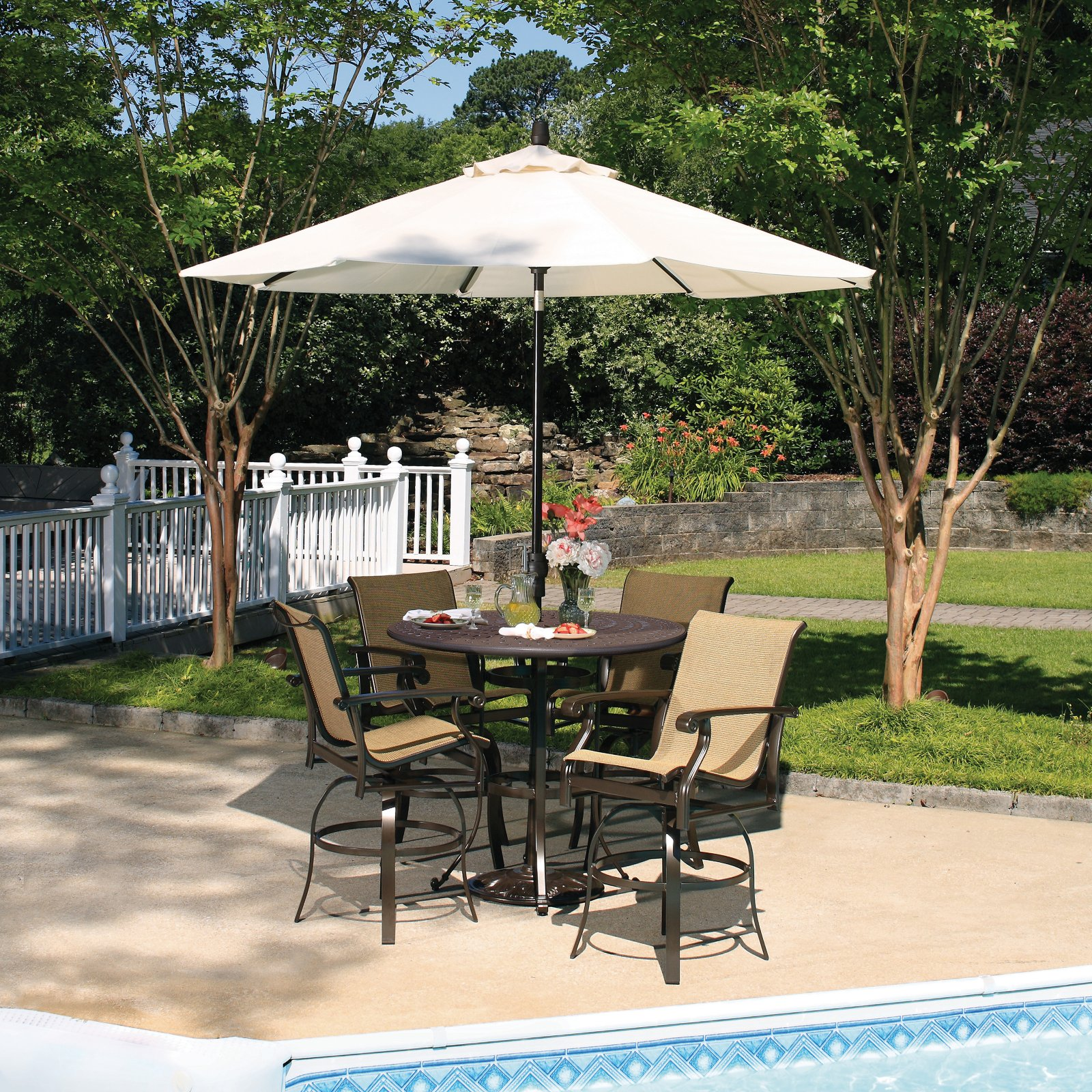 outdoor bar sets with canopy photo - 7