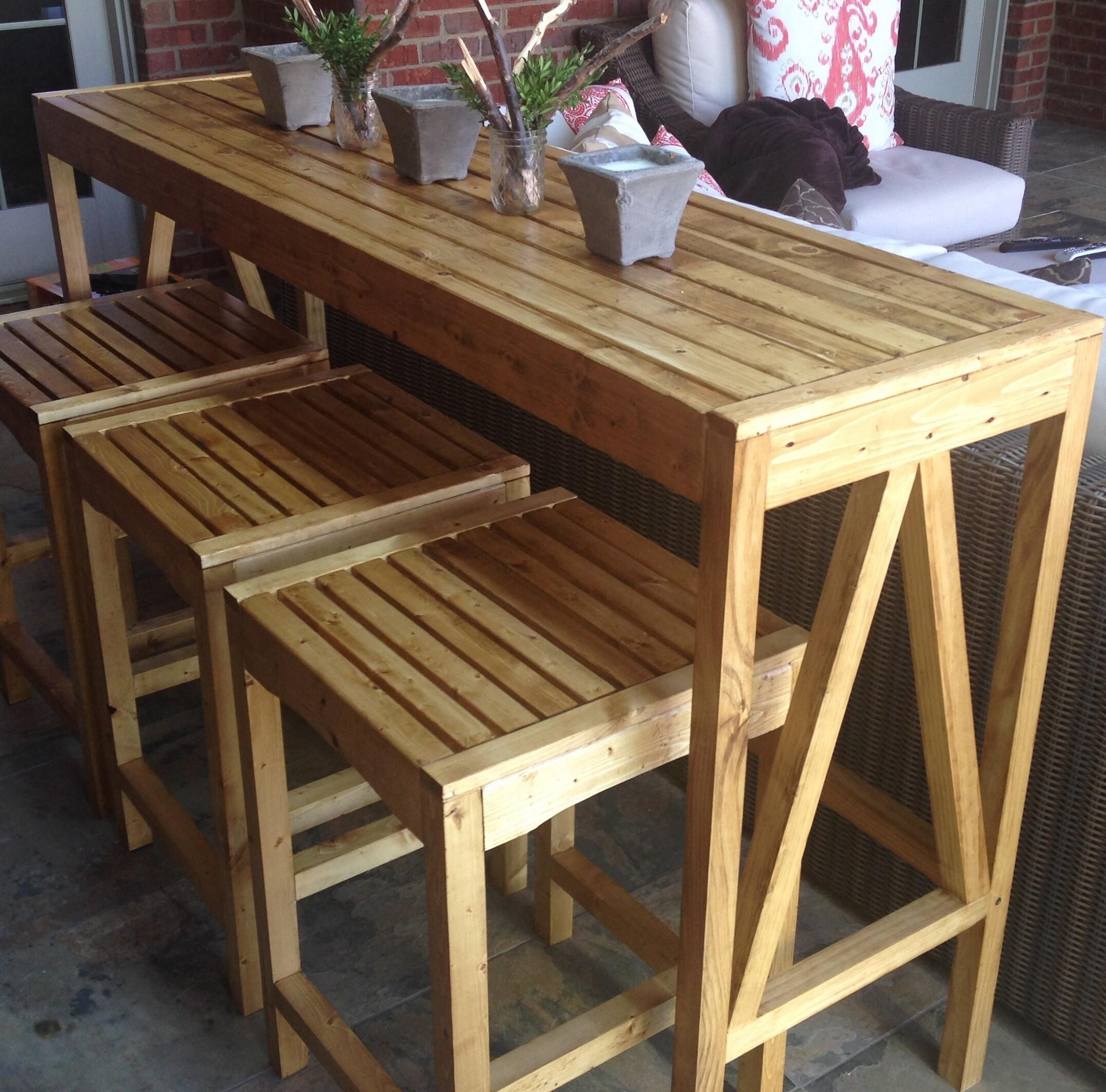 outdoor bar table design photo - 1