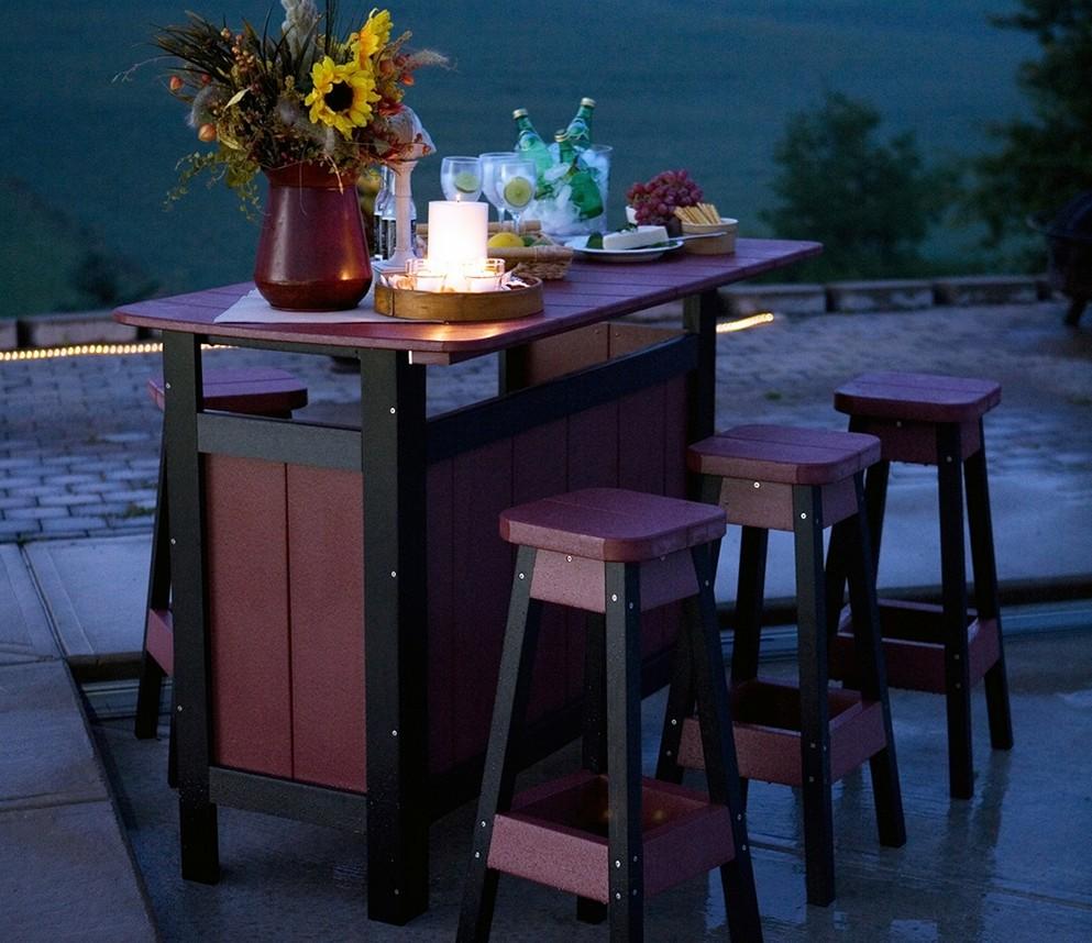 outdoor bar table design photo - 6