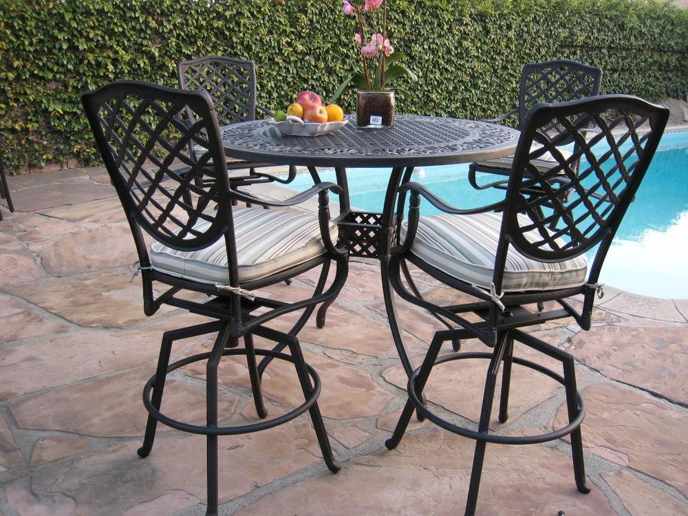 outdoor bar table design photo - 7