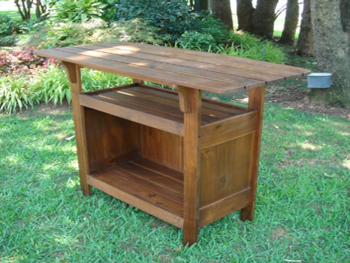 outdoor bar table design photo - 8