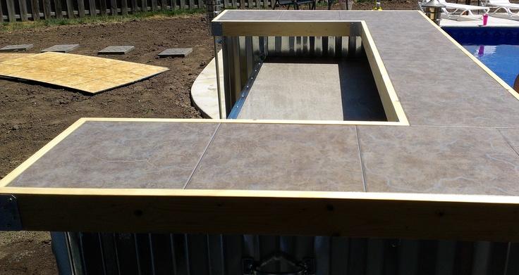 outdoor bar tile designs photo - 10