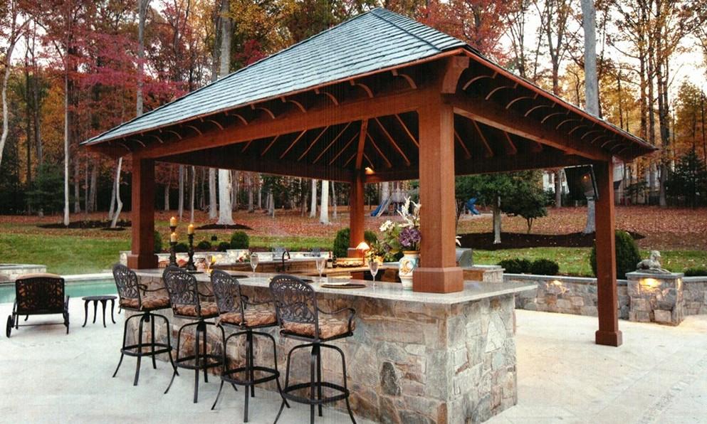outdoor bar top designs photo - 4