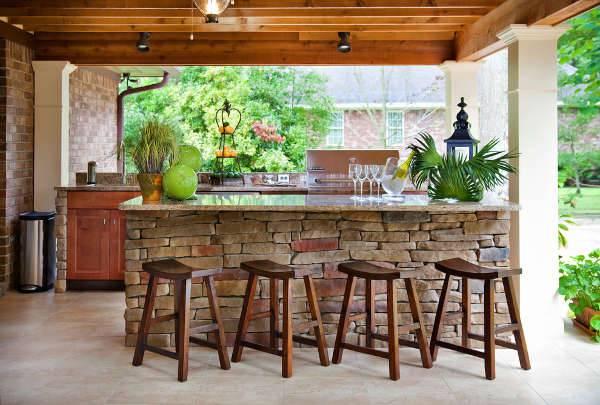 Outdoor brick bar designs | Hawk Haven