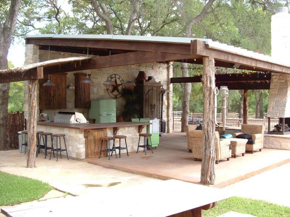 outdoor country kitchen designs photo - 1