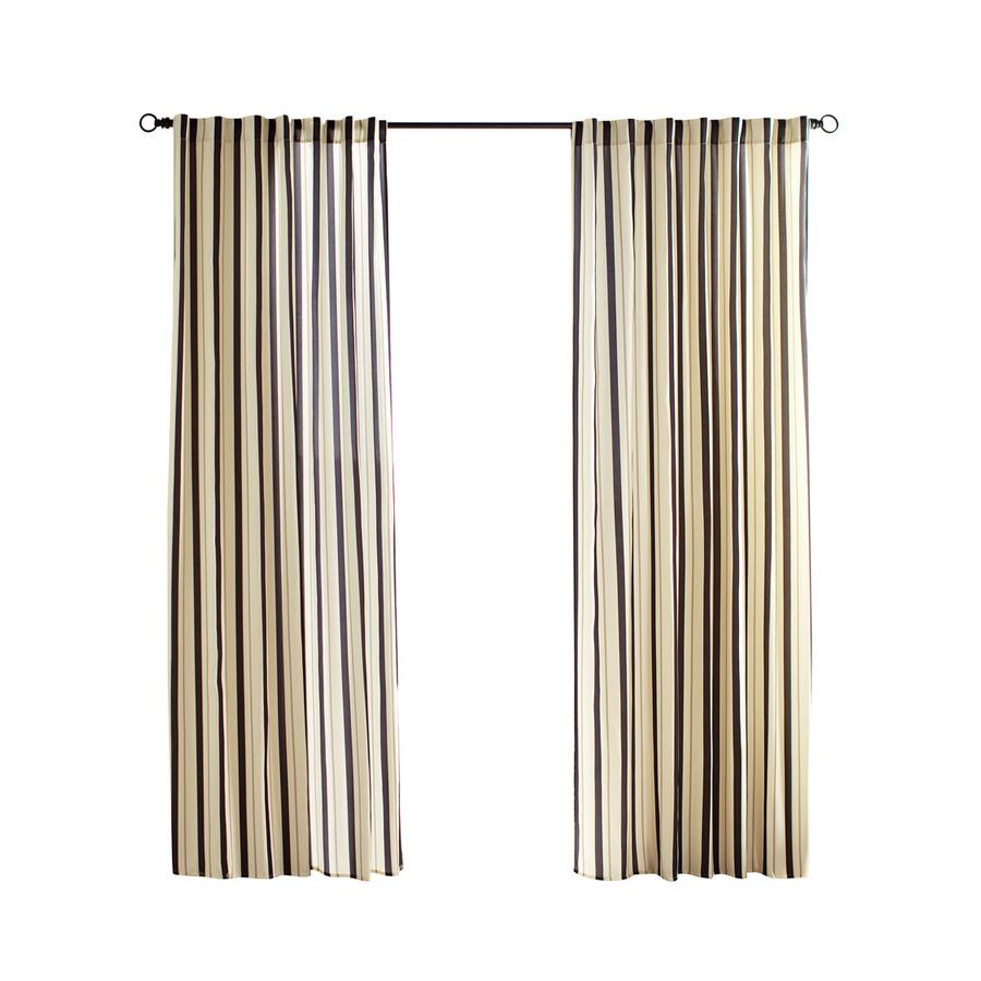outdoor curtains black white stripe photo - 4