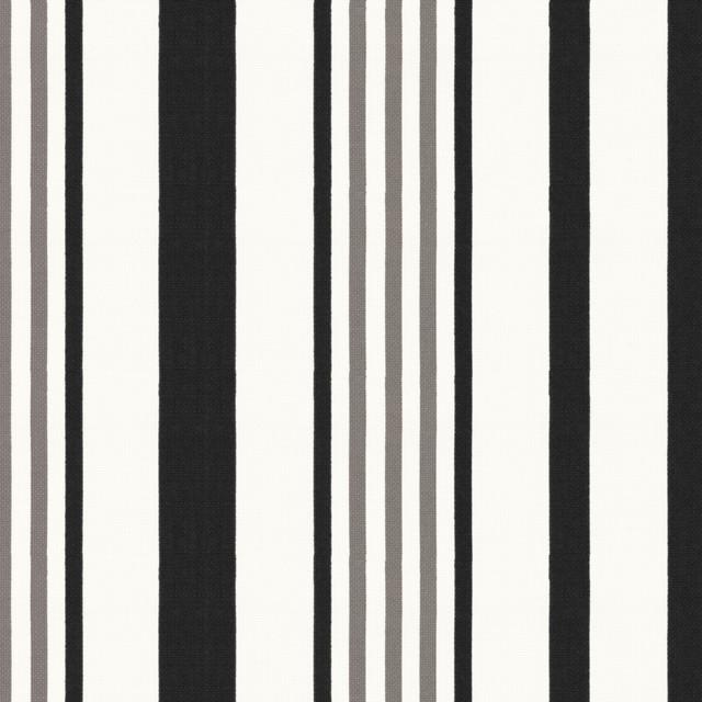 outdoor curtains black white stripe photo - 7