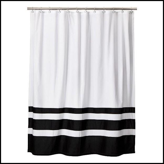 outdoor curtains black white stripe photo - 9