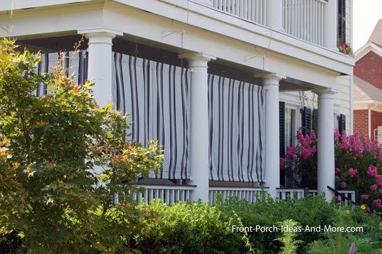 outdoor curtains block wind photo - 1