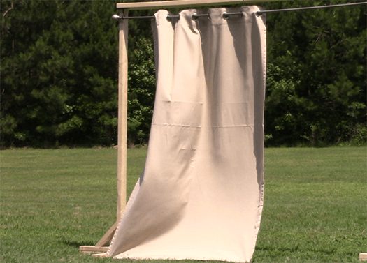 outdoor curtains block wind photo - 6