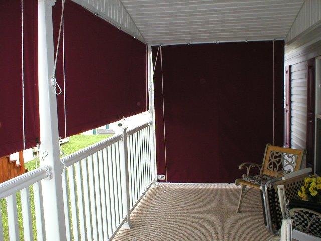 outdoor curtains block wind photo - 7