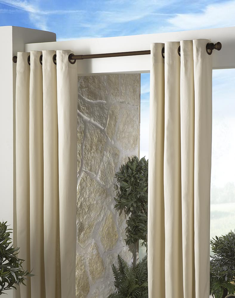 outdoor curtains rods photo - 1