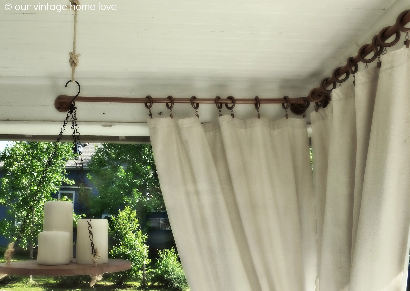 outdoor curtains rods photo - 2