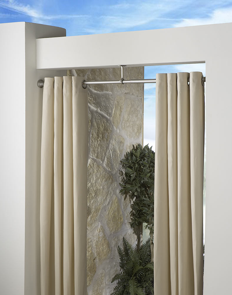 outdoor curtains rods photo - 3